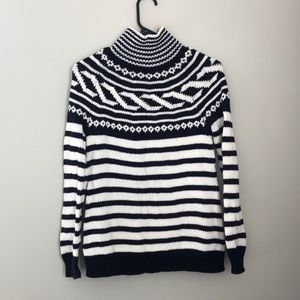 Blue and white Talbots sweater